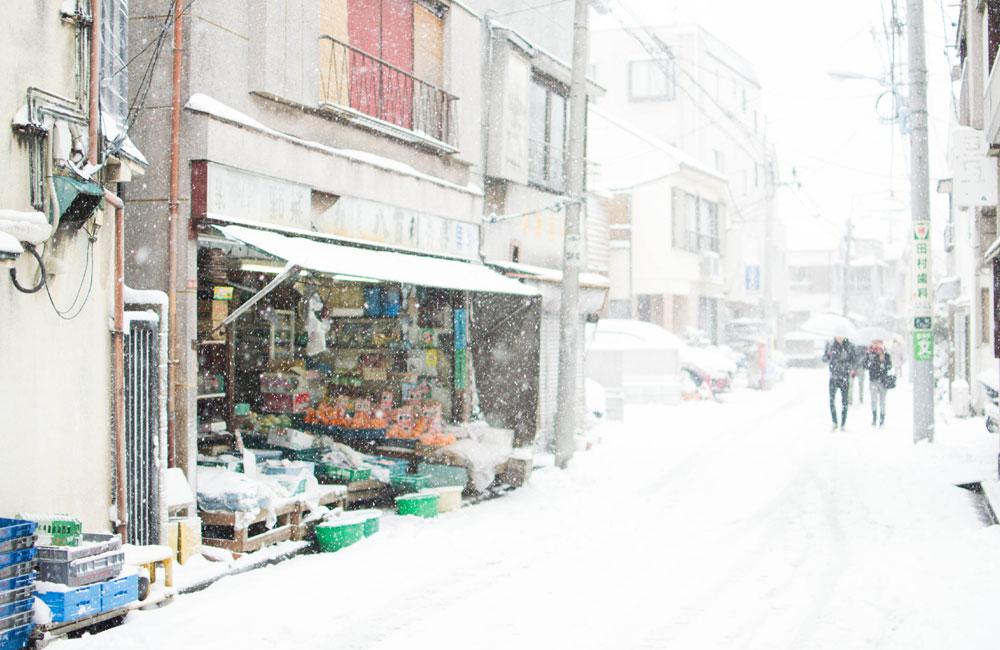 東京で雪が降った写真