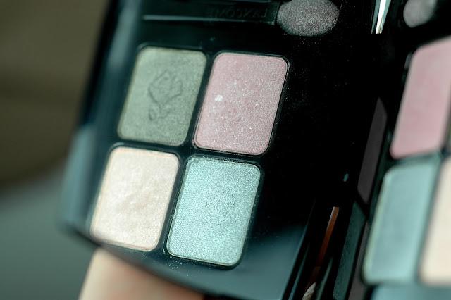 Lancome Lidschatten f95 mit den Farben Rose Quartz und Serenity