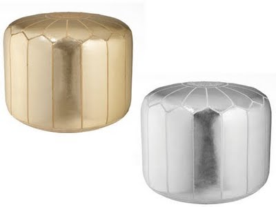 Style Redux Calypso St Barth For Target Gorgeous Gold Pouf Target
