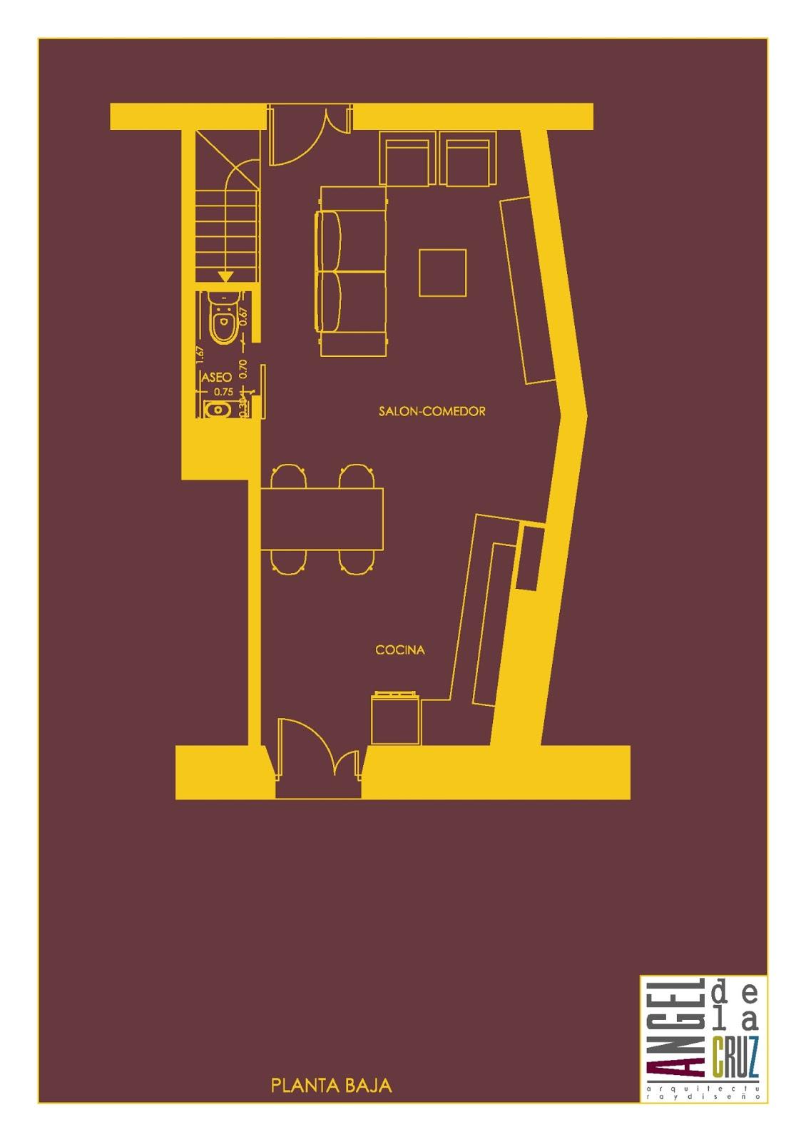 Diseno Baño Debajo Escalera:Angel de la Cruz-Arquitectura interior y diseño: UN RETO:UN PROYECTO