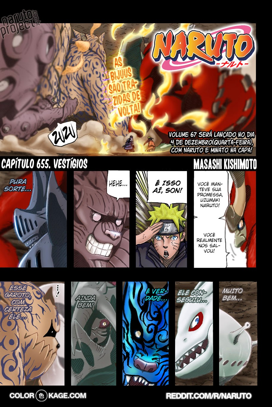 Naruto 655 Mangá Colorido em português leitura online