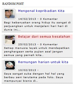 random post dengan gambar valid html5