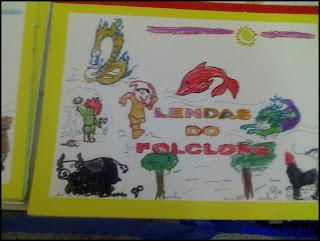 atividade para educação infantil, livro com vários personagens folclóricos