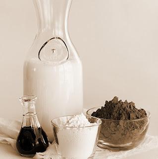 حمام الحليب والشوكولا للبشرة