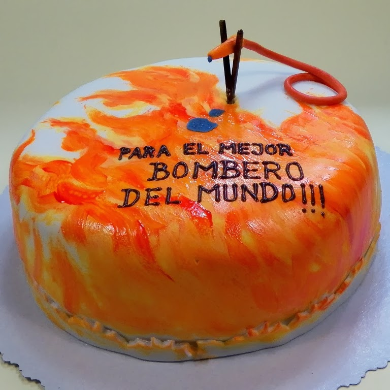 tarta cumpleaños bombero