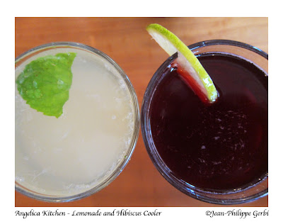 Image of Lemonade and hibiscus cooler at Angelica Kitchen in NYC, New York