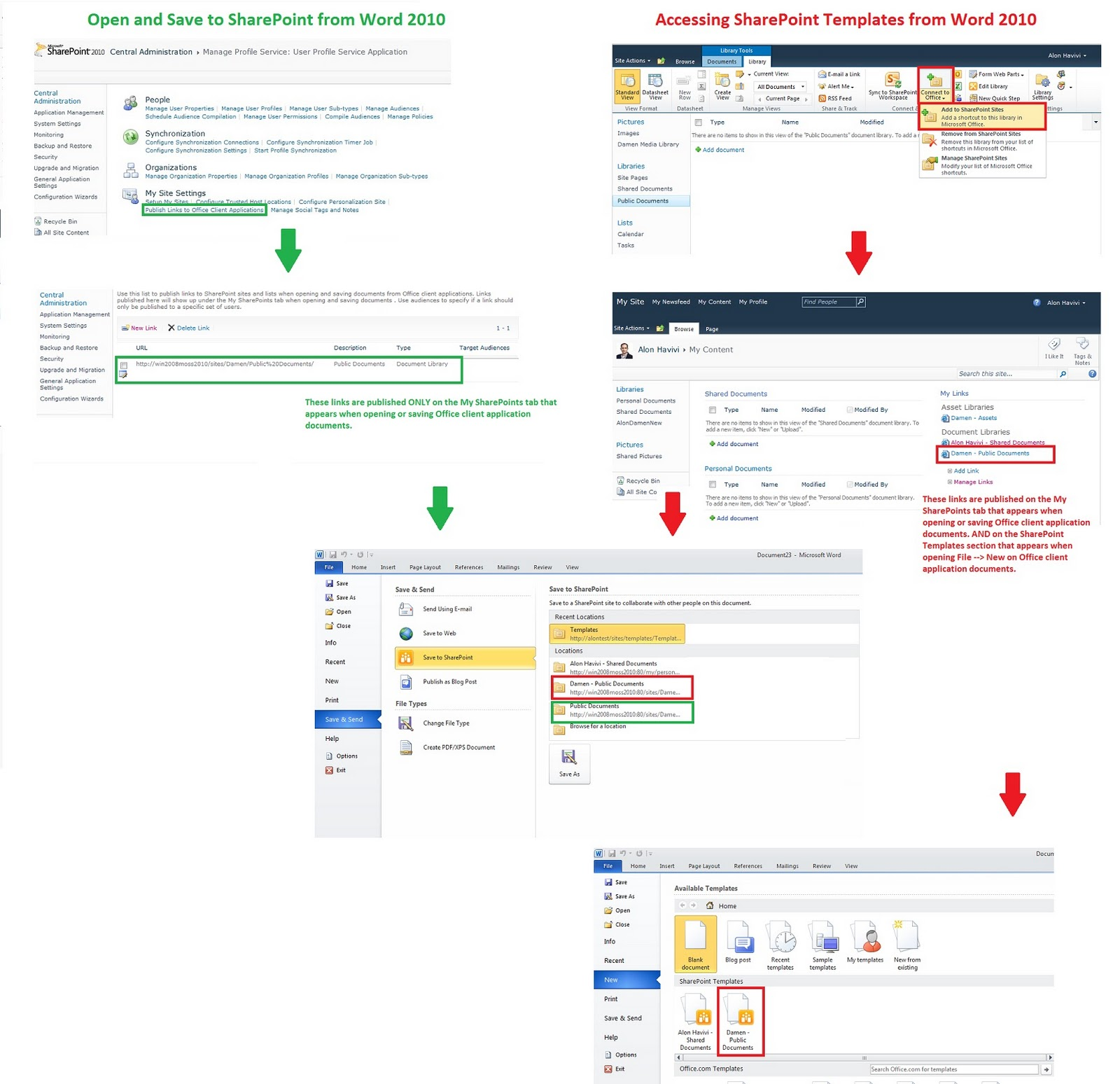 Access sharepoint templates from Office client application - Alon ...