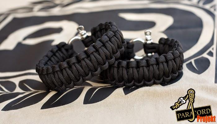 Bransoletka survivalowa z paracordu z szeklą nierdzewną bracelet with stainless shackle