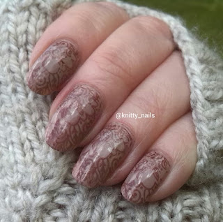 UberChic Beauty UC3-03 and Avon deluxe Chocolate  over Leighton Denny Healthy Glow