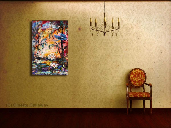 French born artist Ginette Callaway paints Impressionist art today