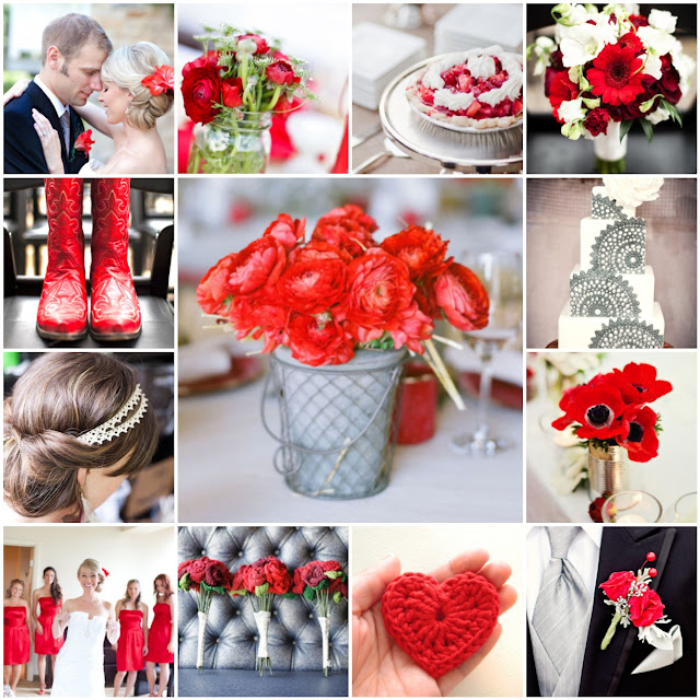 red diy wedding