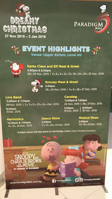 JAT Paradigm Mall Christmas Performance schedule