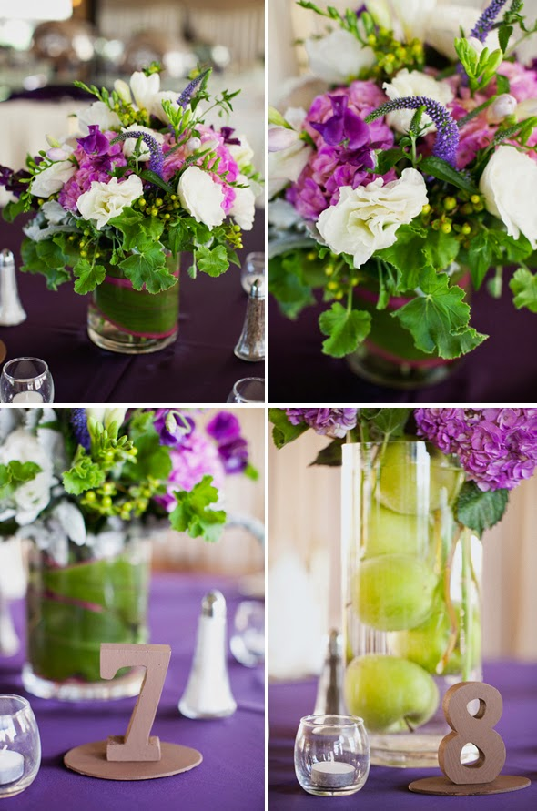 Purple and green wedding theme stuff ideas