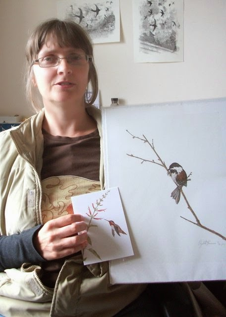 Me and my print from Elizabeth Romanini of The Natural Line
