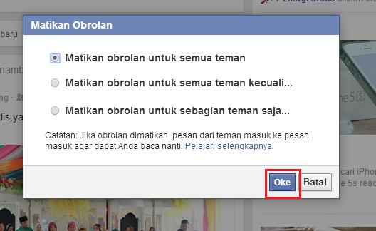 Cara Membuat Chat Facebook Menjadi Offline