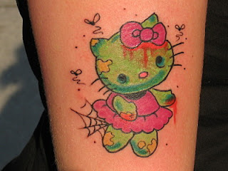 Hello Kitty zombie ballerina tattoo
