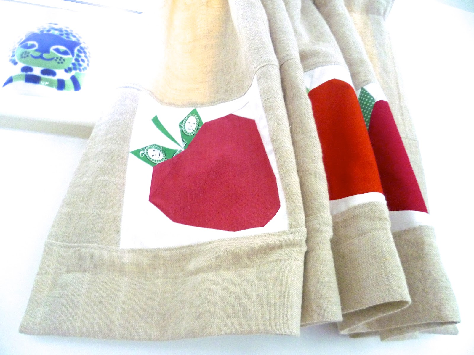 Strawberry Kitchen Curtains Sew Ichigo Curtains And Kitchens