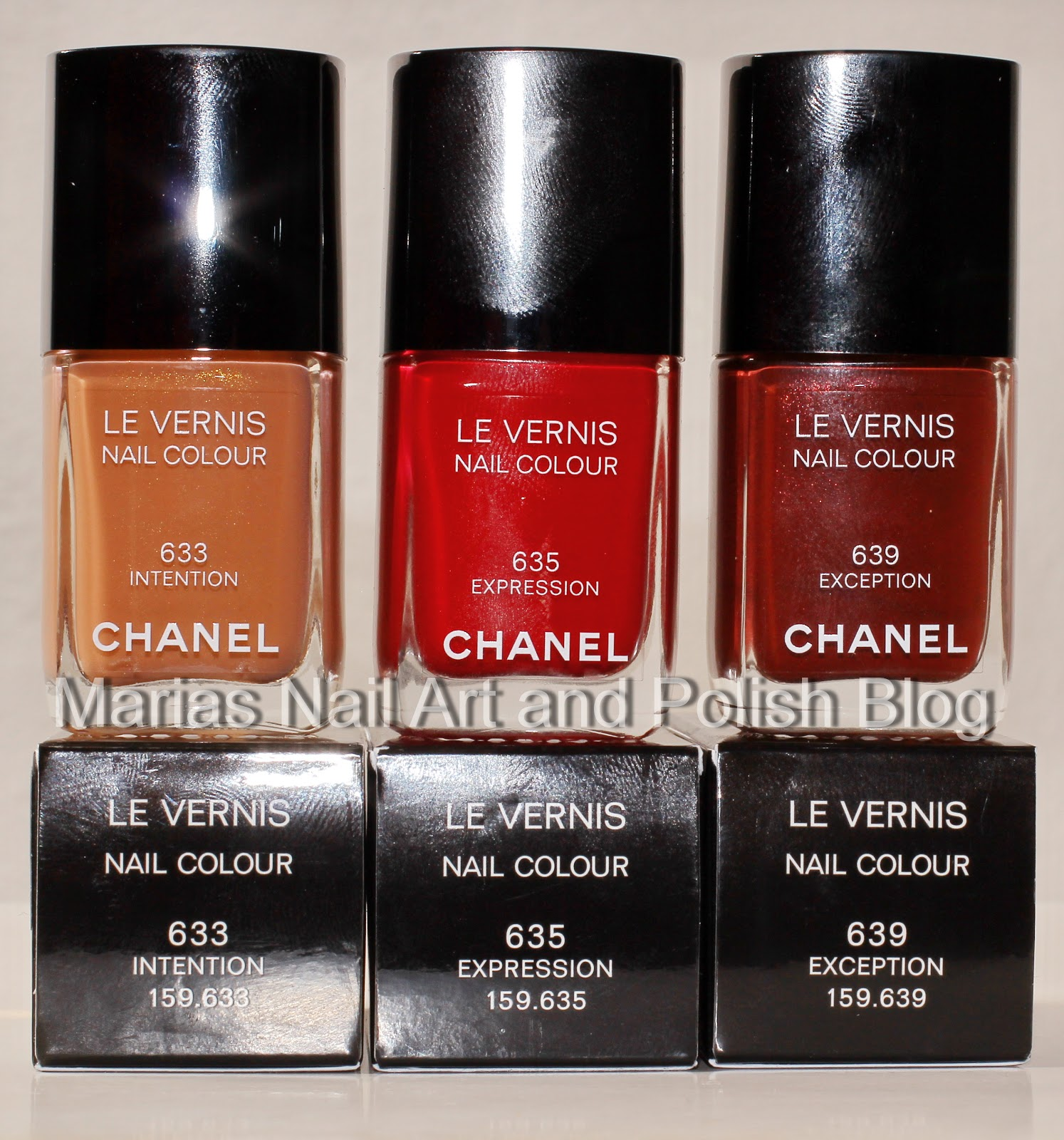 Marias Nail Art and Polish Blog: Chanel Intention 633, Expression ...