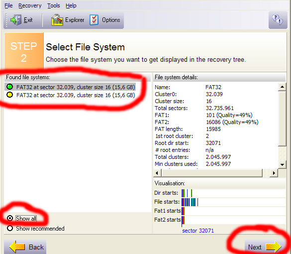 Recovery Data Terformat 7