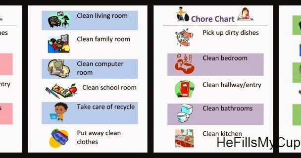 he fills my cup   free printable kids cleaning  chore