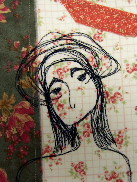 My name is Molly ....I am a thread sketched fabric art card