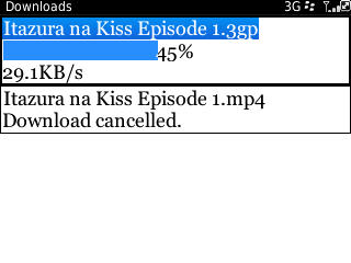 Capture download film dengan BlackBerry