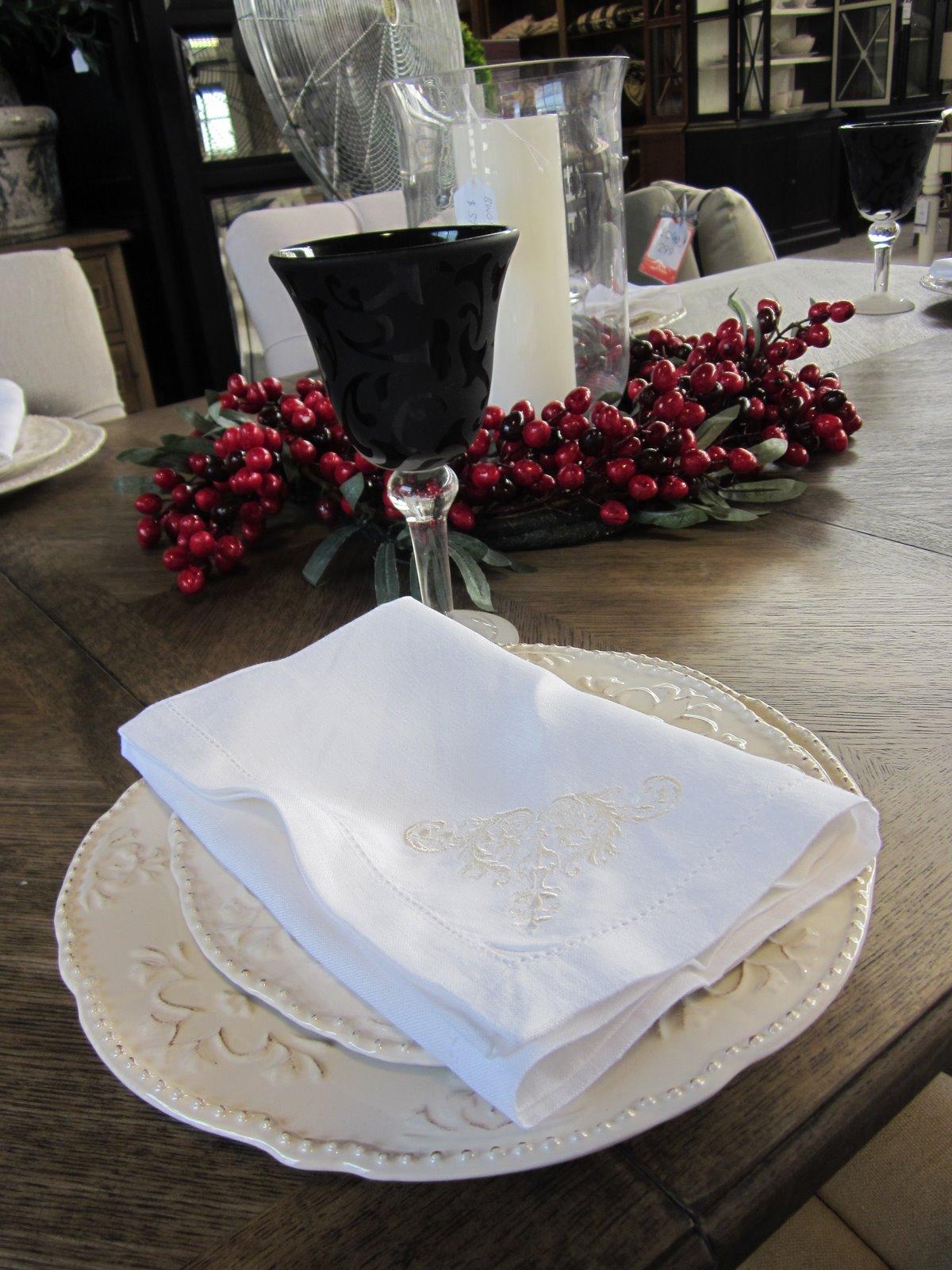 french english festive table settings