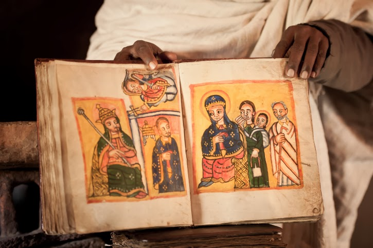 Ancient Manuscript Ethiopian Orthodox Bible