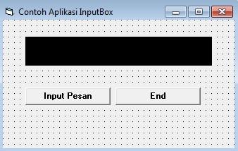 Penggunaan Aplikasi InputBox