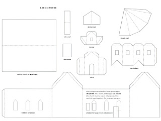 image regarding Printable Christmas Village Template called Mel Stampz: Wee Residences (124 hyperlinks: templates, tutorials, and many others.)