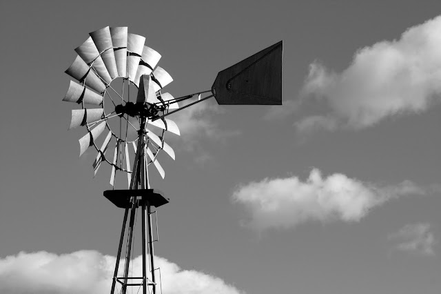 Black and White Wind Mill In Kensington Metro Park