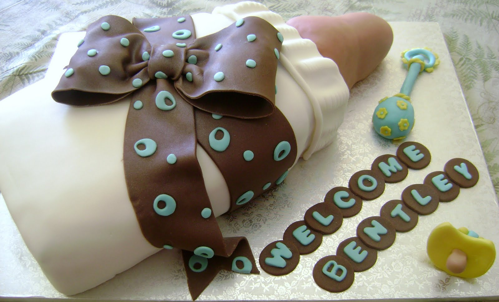 Baby Bottle Cake Images : MaryMel Cakes: Baby Bottle baby shower cake
