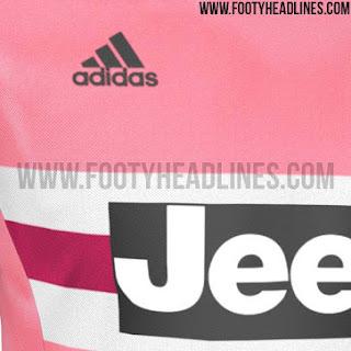 Detail desain Jersey Juventus away terbaru musim depan 2015/2016