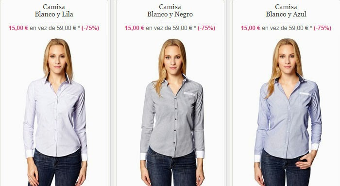 Modelos de camisas para mujeres disponibles en Showroom