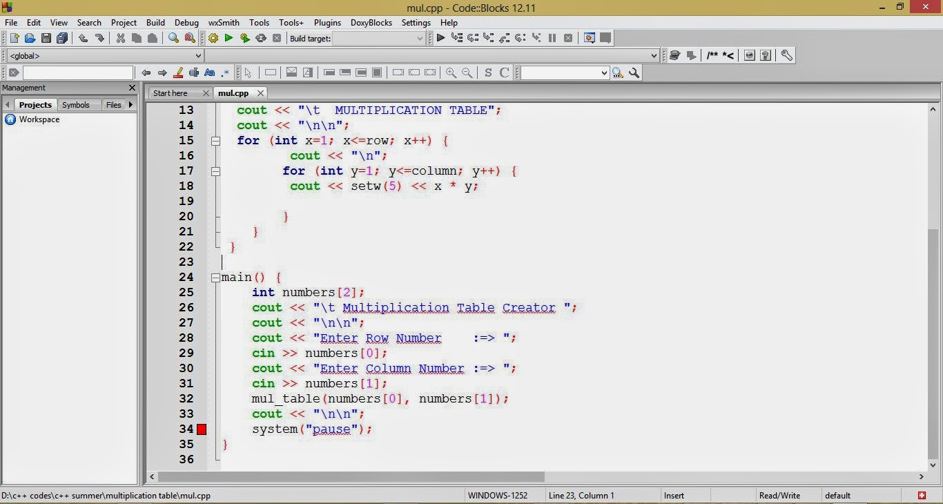Free Programming Source Codes To All Multiplication Table Creator