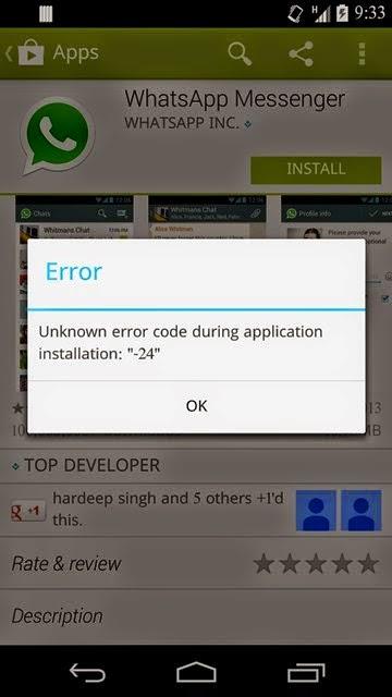 Play store whatsapp install