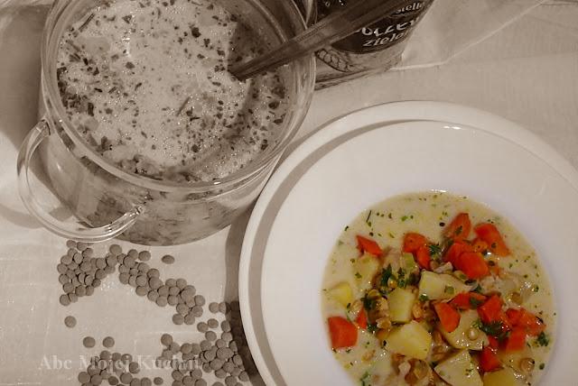 Zupa jarzynowa z soczewicą
