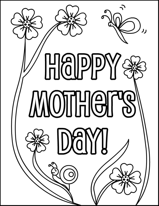 happy mothers day coloring page - Happy Mother's Day Coloring Pages