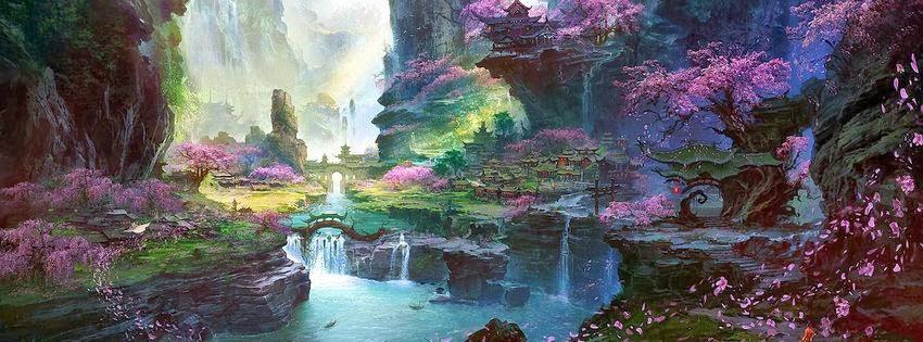 Image de couverture facebook paysage fantastique