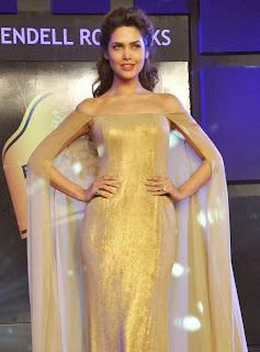 6 Esha Gupta in Golden Gown at Blenders Pride Event.jpg