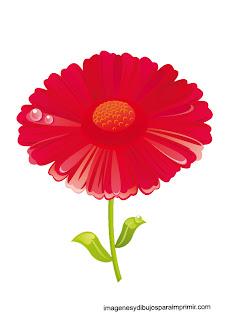 dibujo de maragarita roja  flores en laminas para imprimir