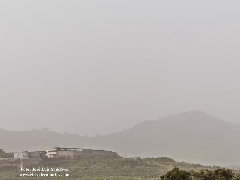 fuerte viento Gran Canaria y calima, marzo