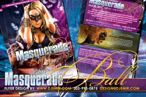 Masquerade Party Flyer Design
