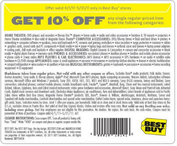 Past Best Buy Coupon Codes