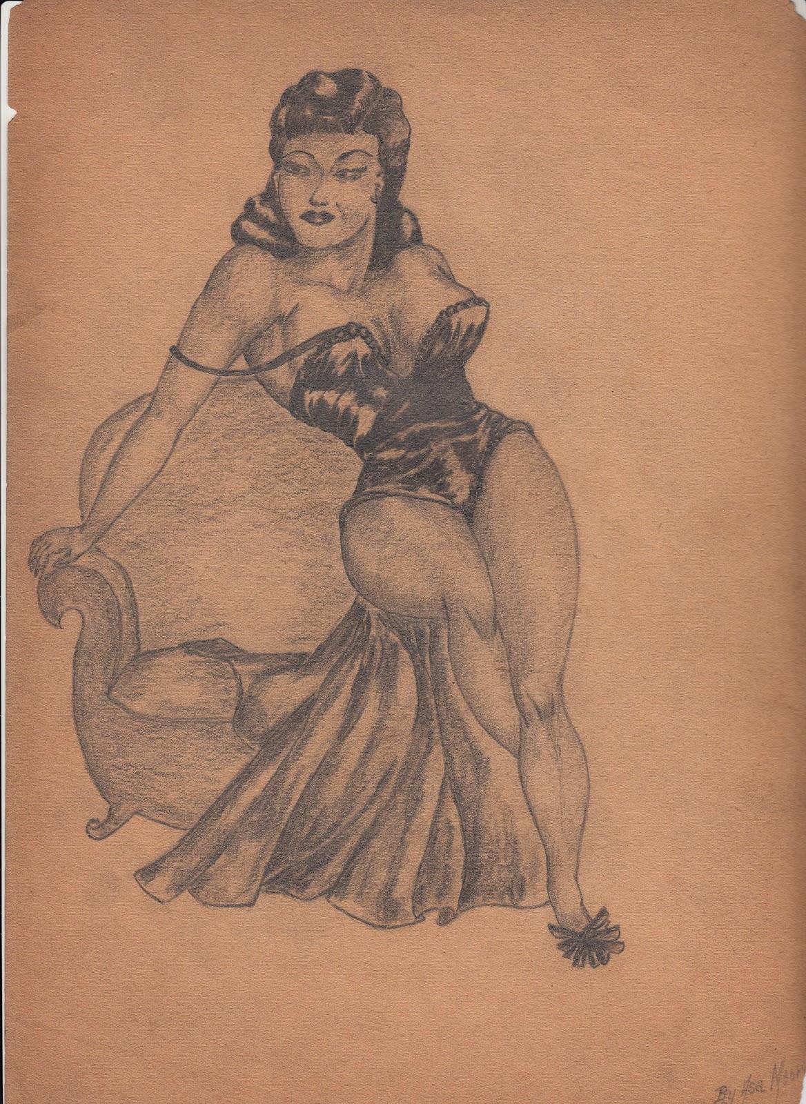 IMG 0004 Erotic Fantasy Comic Drawings of African American Artist Asa Ace Moore c.