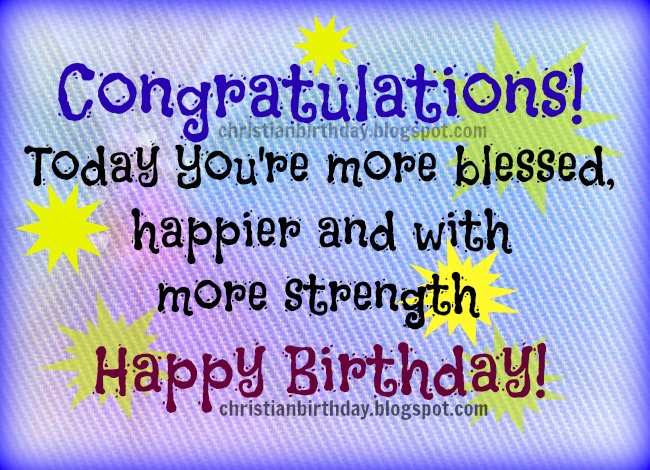 Congratulations Happy Birthday Christian Image and Quotes – Christian Happy Birthday Card