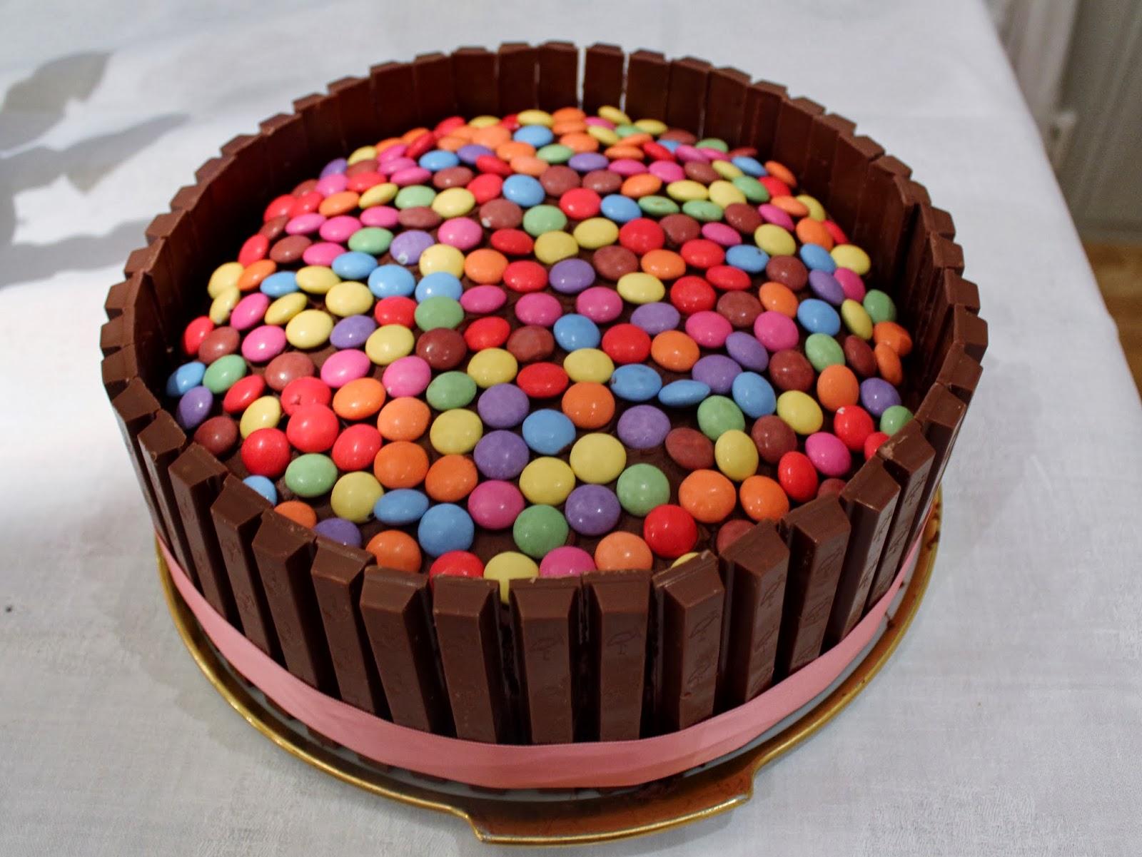 sjokoladekake med kvikklunsj