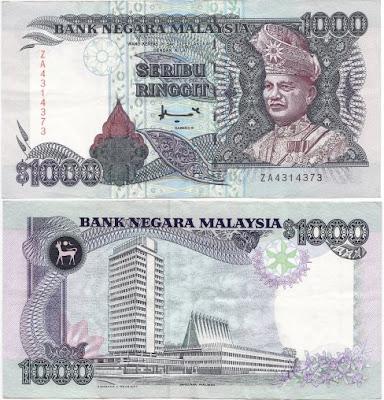wang kertas not RM1000