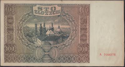 Polonia 100 Zlotych 1941 P# 103