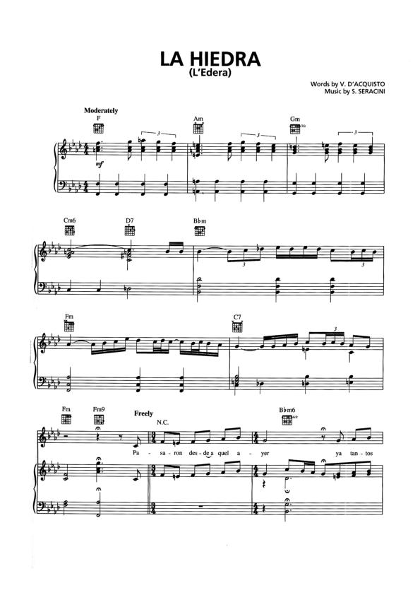 Las mejores partituras partituras trio los panchos 12 for Costo del 2 piano